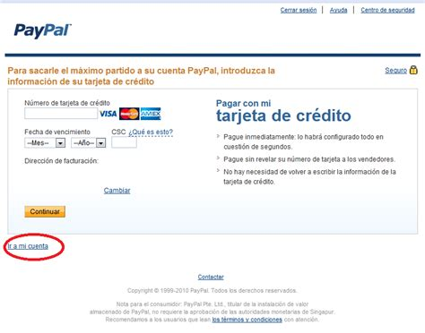 Pasar Dinero De Mi Tarjeta De Credito A Paypal - opiniones ...