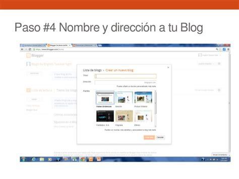 Pasos para crear un blog en