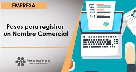 Pasos para registrar un Nombre Comercial | Empresa