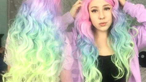 PASTEL RAINBOW HAIR ???? WIG UNBOXING Unicorn Hair ...