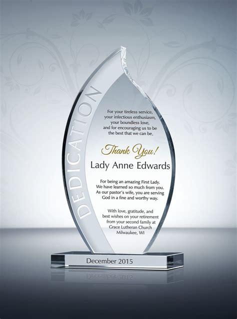 Pastor Wife Recognition Plaque | Appreciation words, Award ...