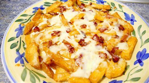 patatas con queso y bacon   Recetas de cocina faciles ...