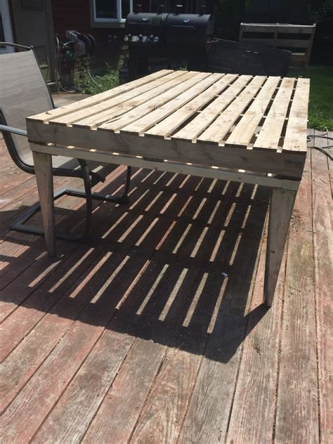 Patio Coffee Table Out of Wooden Pallets | Pallet Ideas