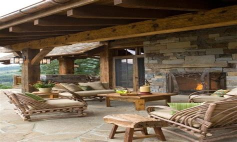 Patio designs, rustic outdoor covered patios covered ...