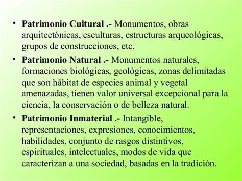 Patrimonio cultural y natural