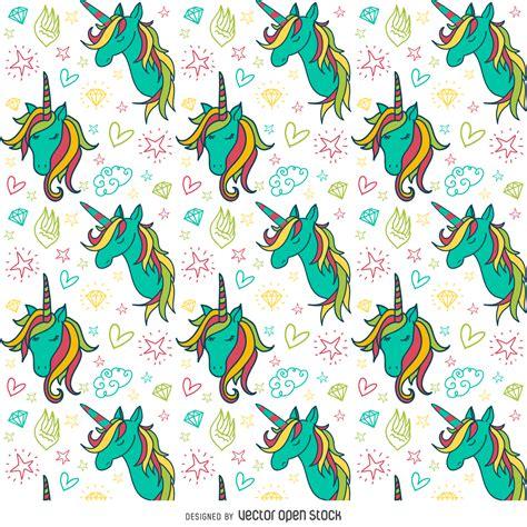 Patrón de dibujos unicornio colorido - Descargar vector