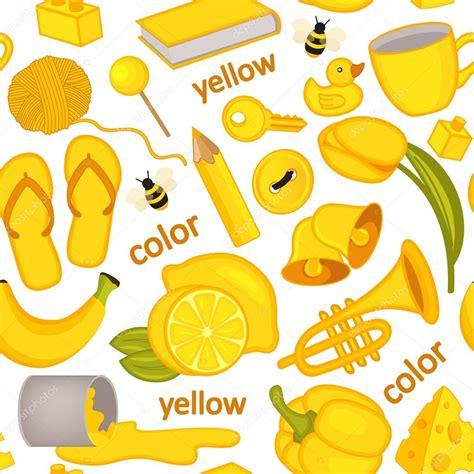 patrón transparente con objetos amarillos — Archivo ...