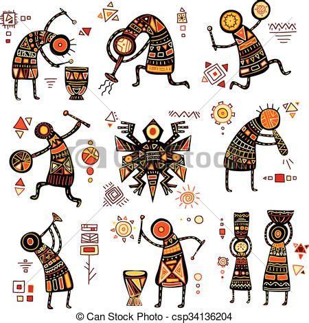 Patrones, africano, étnico. Patrones, color, étnico ...