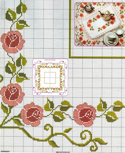 Patrones de punto de cruz flores   Imagui