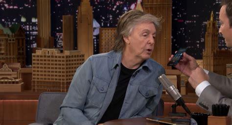 Paul McCartney Appears On 'Jimmy Fallon': Watch - Stereogum