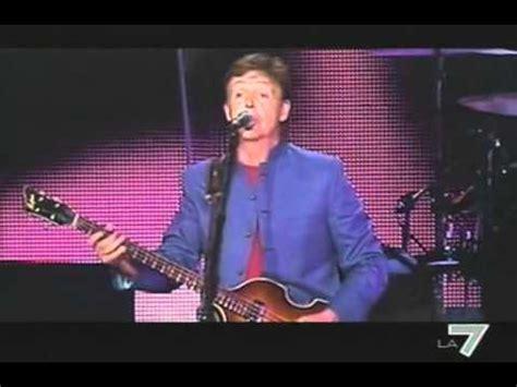 Paul McCartney live Rome concert 2003 @mrzioizz LA7 TV ...