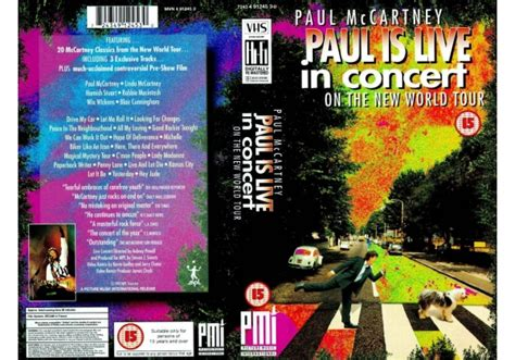 Paul McCartney   Paul Is Live   In Concert  The  1993 on ...