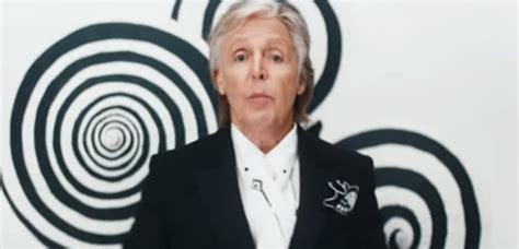 Paul McCartney presentó el videoclip de Who cares