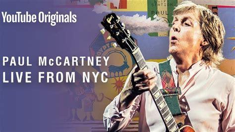 Paul McCartney transmitirá lanzamiento en vivo de su nuevo ...