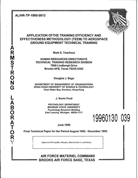 PDF  Application of the Training Efficiency and ...