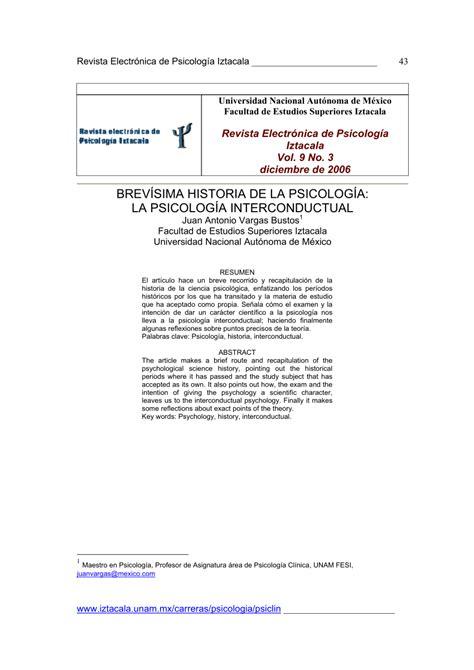 (PDF) BREVÍSIMA HISTORIA DE LA PSICOLOGÍA: LA PSICOLOGÍA ...