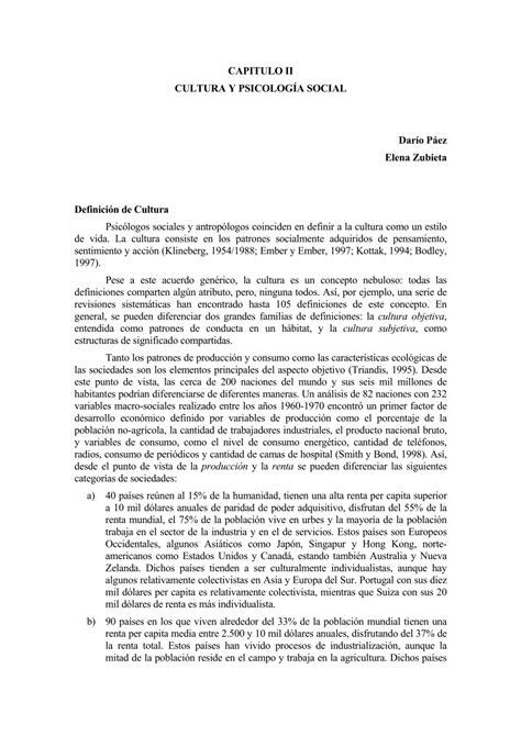 (PDF) Definicion de cultura Cap II Psicologia social ...