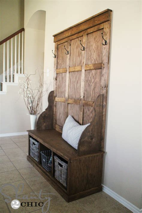PDF DIY How To Build A Hall Tree Storage Bench Download ...