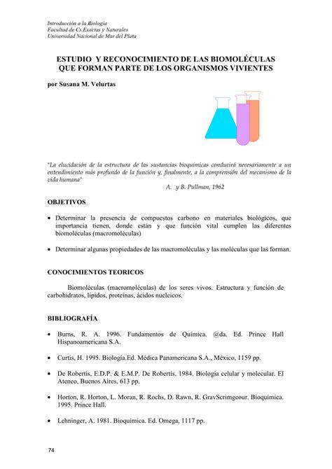 (PDF) ESTUDIO Y RECONOCIMIENTO DE LAS BIOMOLÉCULAS QUE ...