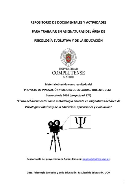 PDF  REPOSITORIO DE DOCUMENTALES Y ACTIVIDADES PARA ...