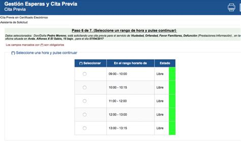 Pedir CITA PREVIA con la Seguridad Social.