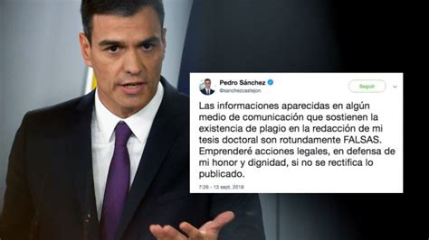 Pedro Sánchez amenaza a OKDIARIO vía tuit: