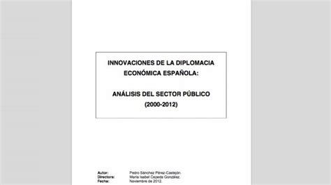 Pedro Sánchez hace pública su tesis doctoral