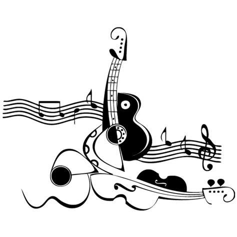 Pegatina pared Guitarras y notas musicales