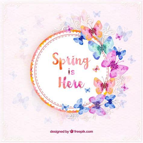 Pegatina primaveral con mariposas de acuarela | Descargar ...