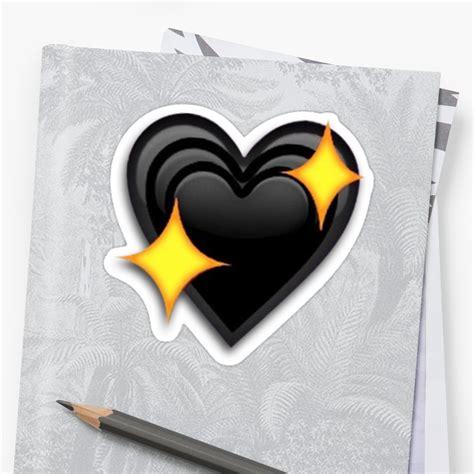 Pegatinas «etiqueta engomada del emoji del corazón negro ...
