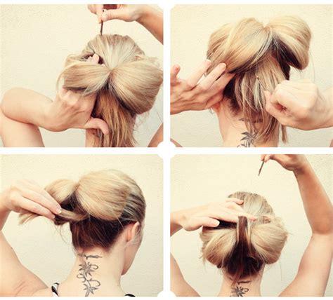 Peinados: Moño de lazo
