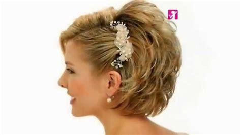 Peinados Novia Pelo Corto 2015 Tonific peluqueria TV - YouTube