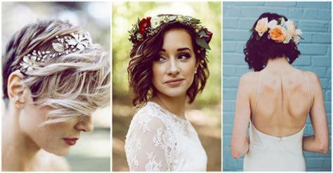 Peinados para novias con cabello corto - Yo amo los zapatos
