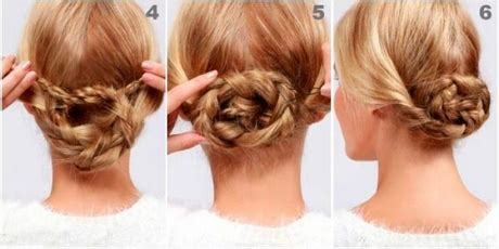 Peinados sencillos recogidos con trenzas