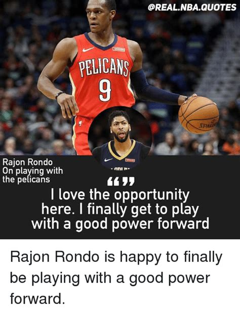 PELICANS Rajon Rondo on Playing With the Pelicans L Love ...