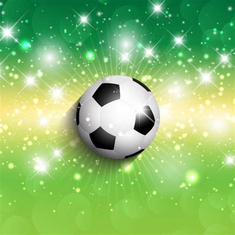 Pelota de fútbol en un fondo verde brillante   Descargar ...