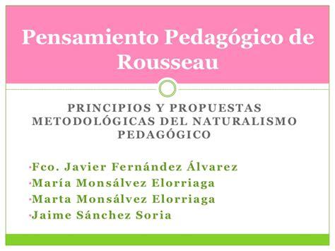 Pensamiento pedagógico de Rousseau
