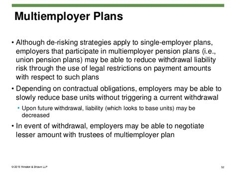 Pension Plan De risking: Legal Challenges and Opportunities