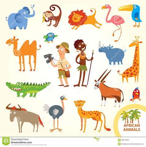 Pequeños Animales Africanos Divertidos Determinados ...