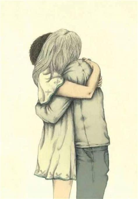 Perfect Dibujos De Enamorados Abrazados A Lapiz I ...