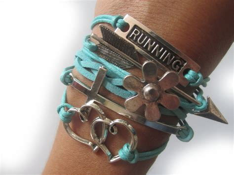 Perfect gifts for runners Running bracelet with a cross