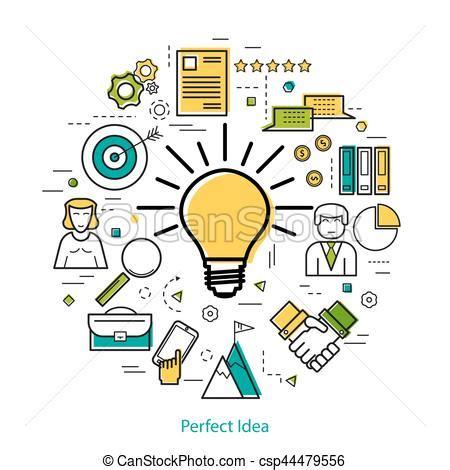 Perfecto, concepto, empresa / negocio,  , idea, lineart ...