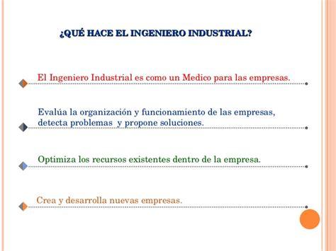 Perfil Del Ingeniero Industrial