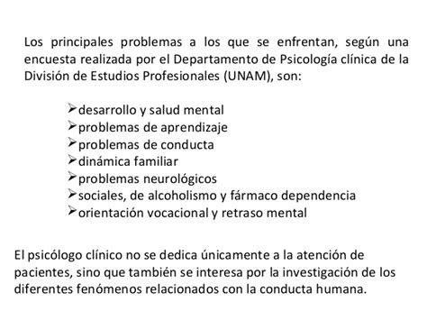 Perfil del psicólogo clínico  prob. individuales