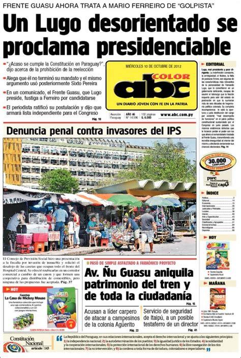 Periódico ABC Color  Paraguay . Periódicos de Paraguay ...