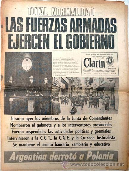 periodico clarin del 25/03/1976 - 1er dia del g - Comprar ...