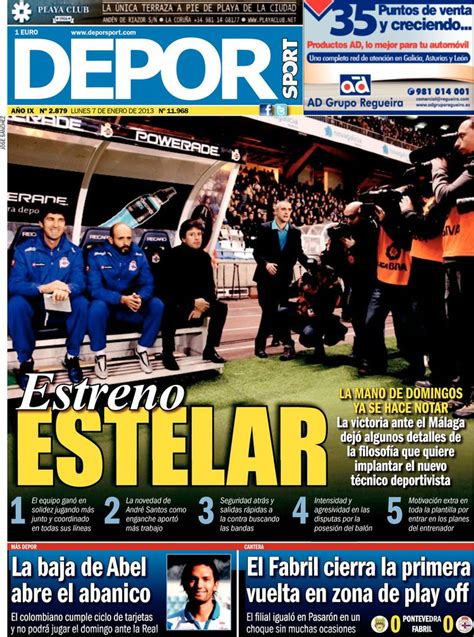 Periodico Depor Sport - 7/1/2013