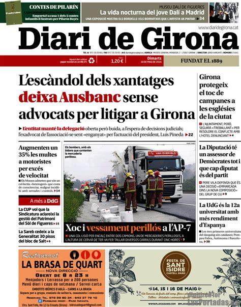 Periodico Diari de Girona   10/5/2016