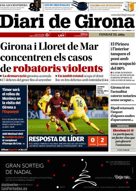 Periodico Diari de Girona   11/12/2017