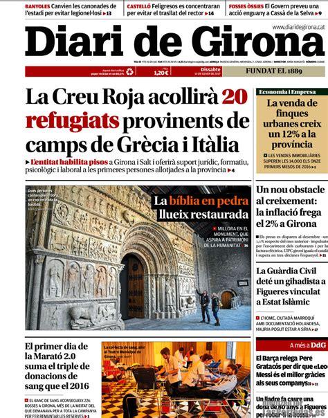 Periodico Diari de Girona   14/1/2017